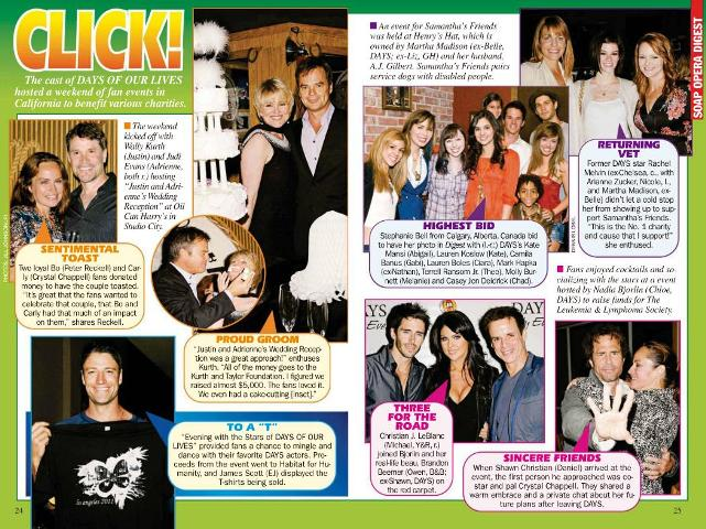 DCE LA 2011 - Soap Digest article I won!