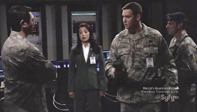 Brian McCaig on Stargate Universe - Iamge courtesy Syfy