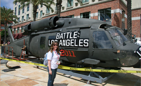 Battle Los Angeles helicopter and me