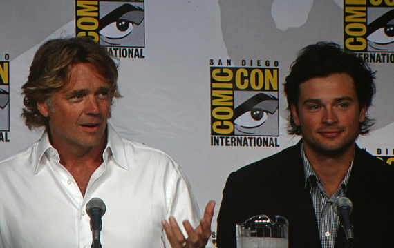 John Scneider and Tom Welling of Smallville