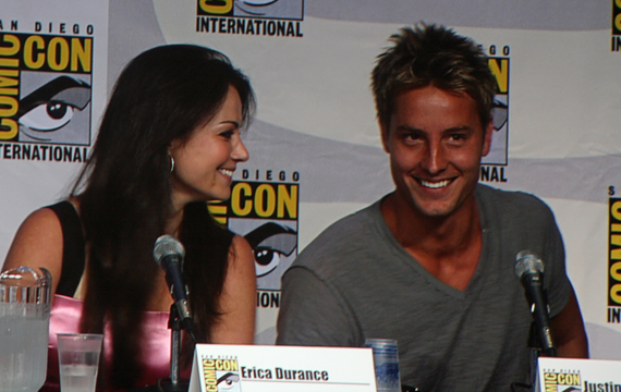 Erica Durance and Justin Hartley of Smallville