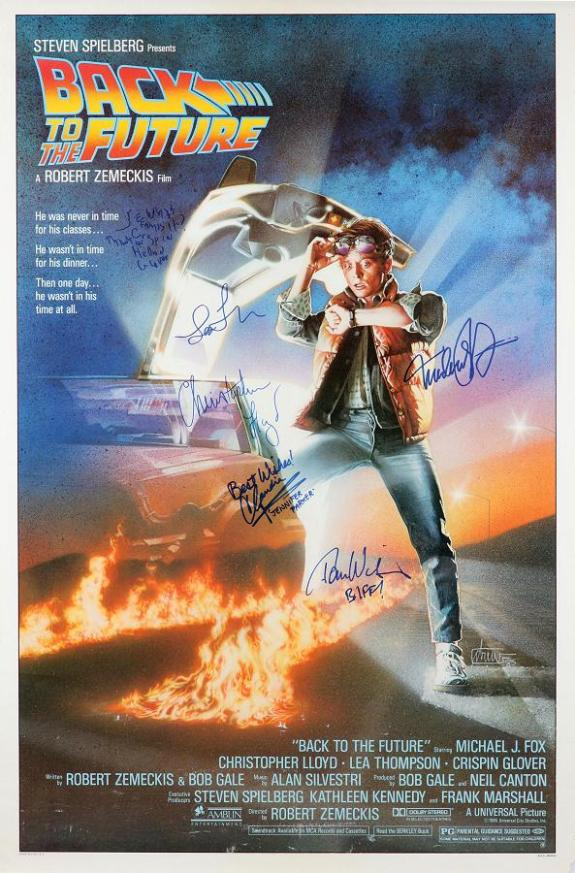 Back to the Future poster signed by 6 principle cast!