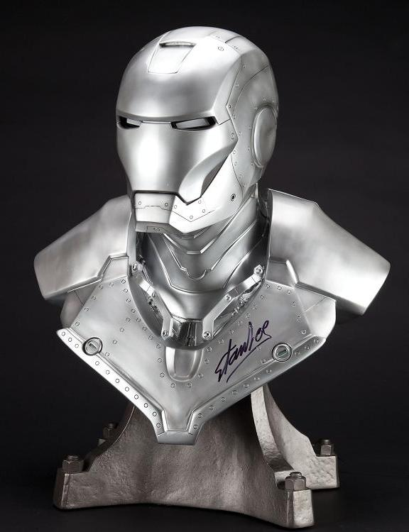 00_6-Ironman Bust poster signed by Stan Lee