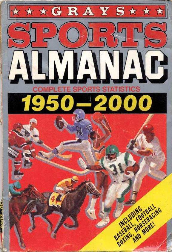 Screen-used Grays Sports Almanac!