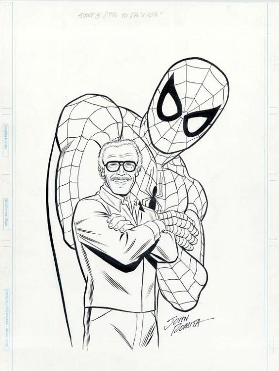 Spider-Man Stan Lee artwork Marvel Way by John Romita