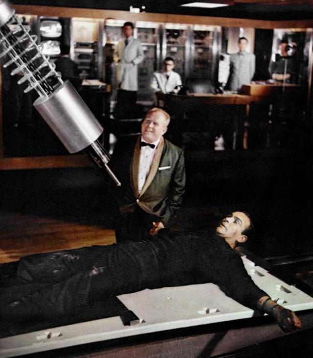 Goldfinger with laser on James Bond - 1964
