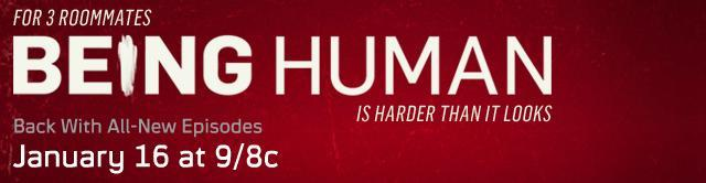 Being Human 2012 Season Two Banner. Click to learn more at Syfy!