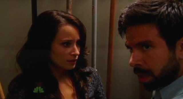 Chuck S5x04 - Morgan safely stashes Alex in closet