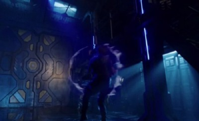 Dark Matter S1x01 Three fires at the mysterious door only to be knocked on his arse