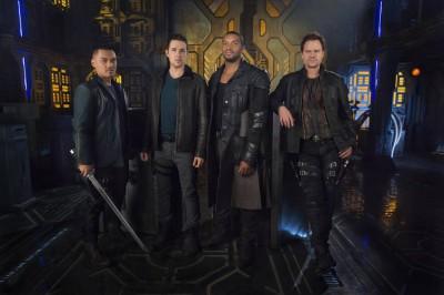 Dark Matter male cast stars Alex Mallari Jr., Marc Bendavid, Roger Cross, and Anthony Lemke