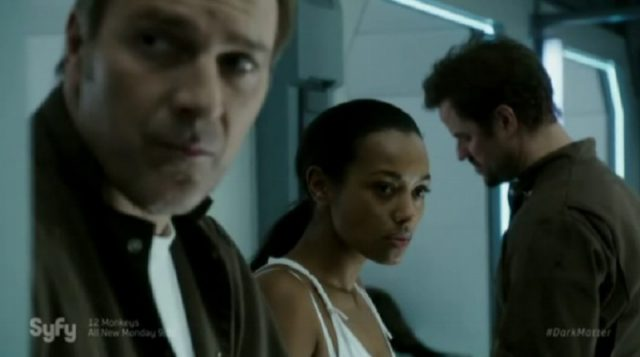 Dark Matter S2x02 Nyx gives lipstick to Three
