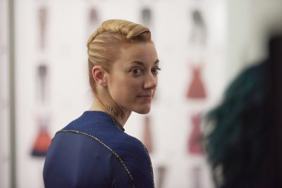 Dark Matter S2x04 I followed Zoie Palmer as The Android off the ship!