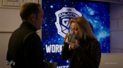 Dark Matter S2x04 The Android diverts the attention of a guard