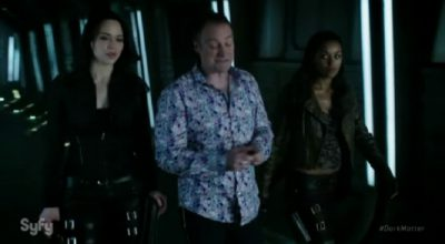 Dark Matter S2x07 Talbor is escorted to the Space Station