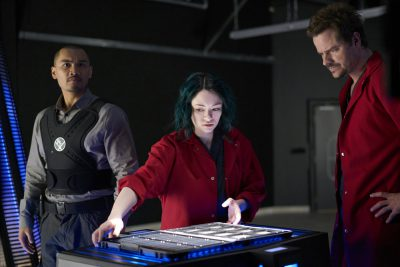 Dark Matter S2x07 Five shows the Blink Drive tech to Three and Four
