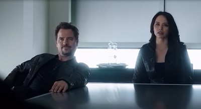 Dark Matter S2x13 Two and Three talking with Truffault