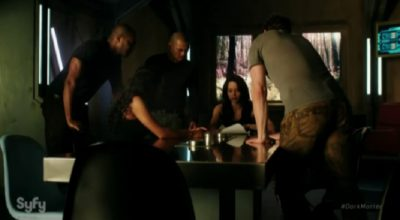 Dark Matter S2x09 The male crew meets with Two to plan action