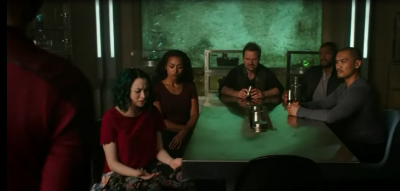 Dark Matter S2x10 Five is not buying what simulated Android is selling