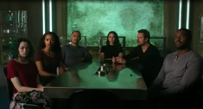 Dark Matter S2x10 Raza Crew about to do the deed!