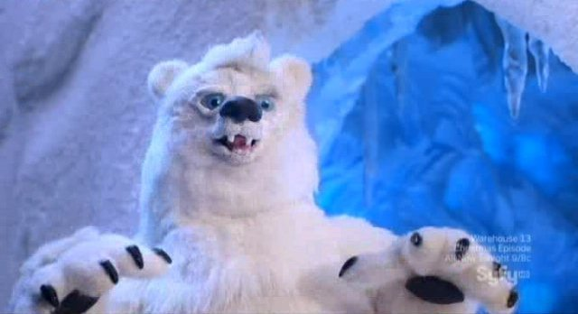 Eureka S4x21 - Matt Frewer as the polar bear voice