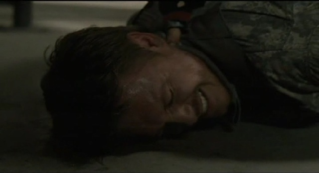 Falling Skies S1x09 Tom beating up Danner