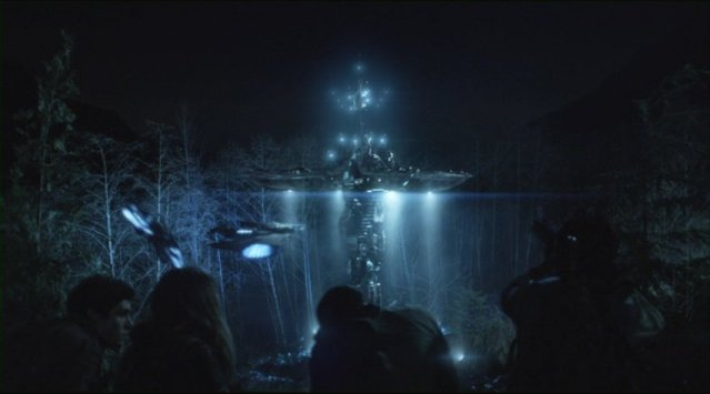 Falling Skies S2x01 Alien fortress in the forest