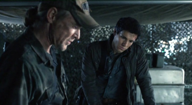 Falling Skies S2x01 Hal and Weaver talking