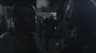 Falling Skies S2x01 Mpho Koaho and Colin Cunningham go head to head