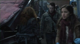 Falling Skies S2x01 Ryan Robbins Lucian Carro and Setchelle Gabriel