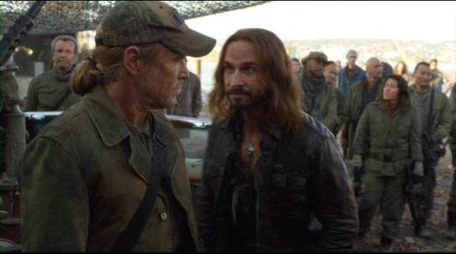Falling Skies S2x01 Will Patton as Weaver and Colin Cunningham as Pope