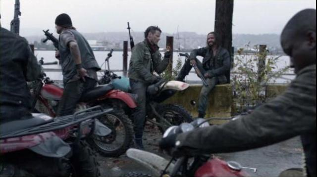 Falling Skies S2x02 Pope tells Tector he stinks