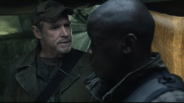 Falling Skies S2x03 - Will Patton as Captain Weaver with Mpho Koaho as Anthony