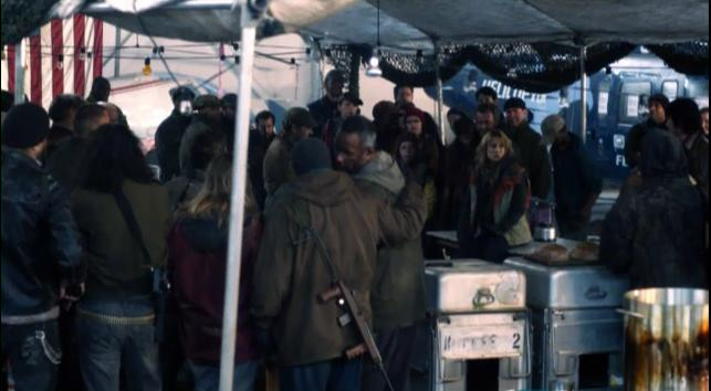 FallingSkies S2x03  Avery Churchill delivers news to the 2nd Mass