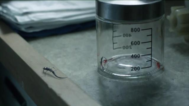 FallingSkies S2x03 - Alien flying bug escapes the glass container