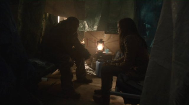 Falling Skies S2x04 - Brandon Jay McLaren as Jamil with Seychelle Gabriel as Lourdes