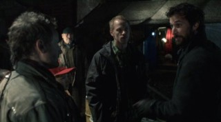 Falling Skies S2x04 - Tom Mason chews out Tector and Boon