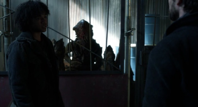 Falling Skies S2x05 The Skitter talking through Rick to Tom