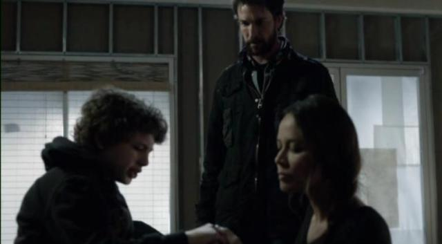 Falling Skies S2 X09 Anne tends to Matt