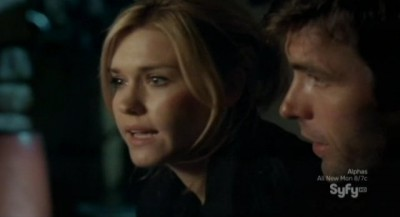 Haven S3x01 - Audrey and Nathan share a tender moment when the alien encounter troubles are all over