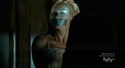 Haven S3x01 - Audrey is bound and gagged in a basement