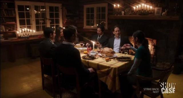 Helix S1x06 Julia shares a holiday dinner with everyone