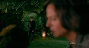 Once Upon A Time S1x02 - Mr Gold approaches Mayor tending to her tree