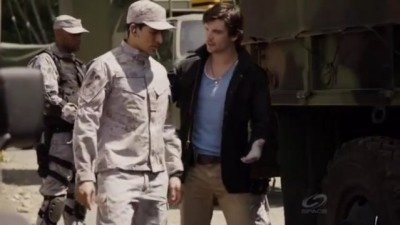 Primeval New World S1x13 - Connor explains tim eline changes to Mac