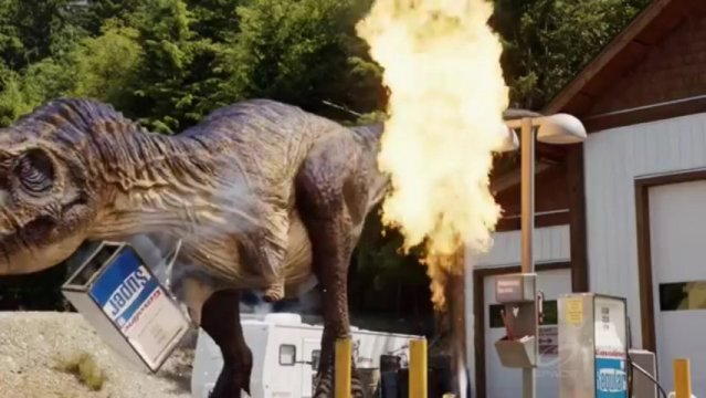 Primeval New World S1x13 - Dino disasters at local gas station