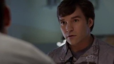 Primeval New World S1x13 - Lt Leeds arrives at Toby's hospital bed