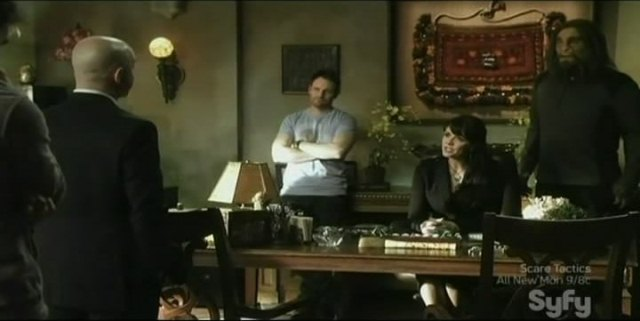Sanctuary S4x03 The team plus Addison in Magnus' office