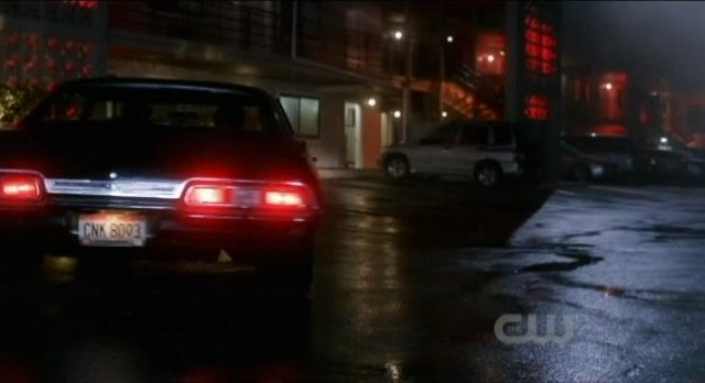 Supernatural S7x05 - License plate is not zoomed