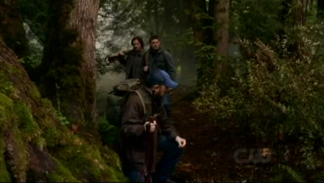 Supernatural S7x09 - Hunting in the Woods