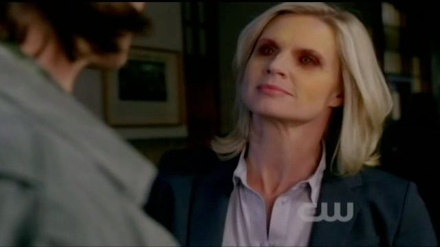 Supernatural S7x13 - Charlene's eyes turn red