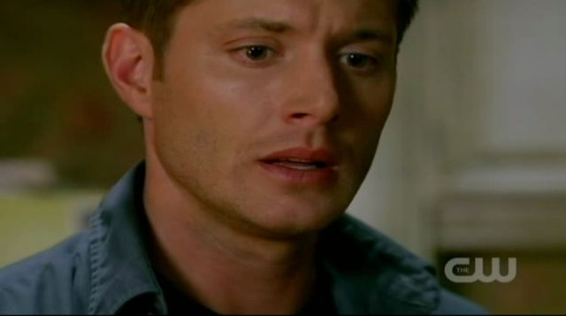 Supernatural S7x13 - Dean looks sad about Sam killing Emma
